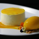 Greek-yoghurt-mousse-mango-sauce-and-sorbet-crumble