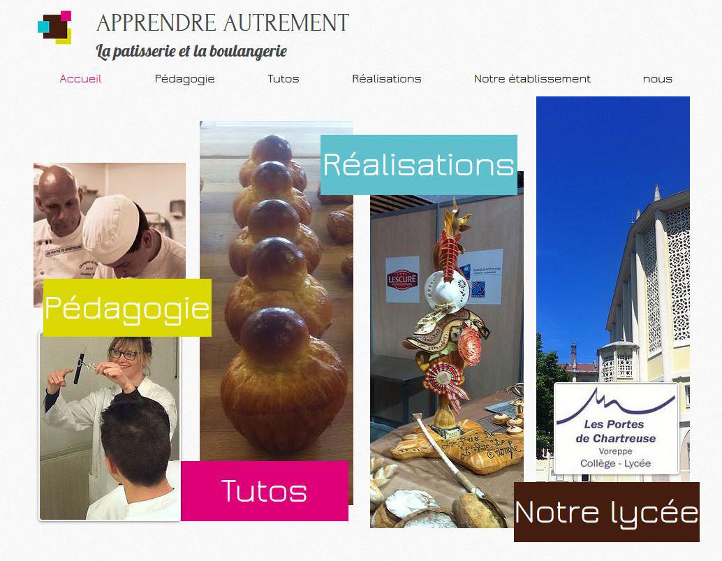 Capture d'écran ApprendreAutrementLaPatisserieBoulangerie.com