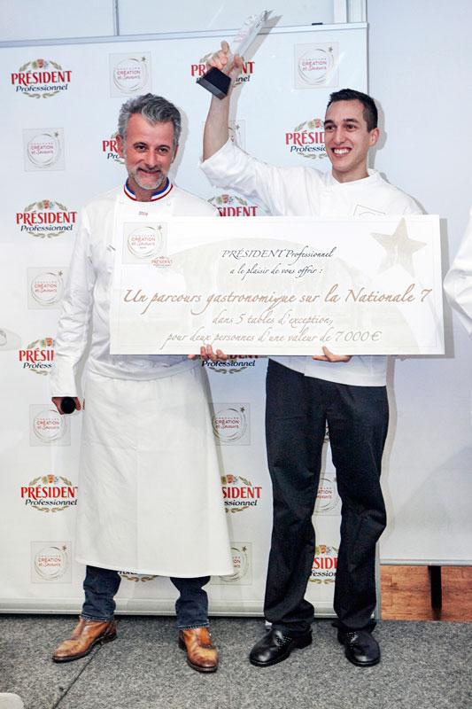 Création Saveurs Dessert - le gagnant Mathieu Derible et Mathieu Viannay