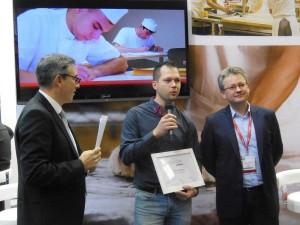 Eric Colavini (Responsable transaction financement GMP), Arnaud Zolver (Gagnant), Pierre Leblanc (Directeur du marché professionnel de ENGIE)