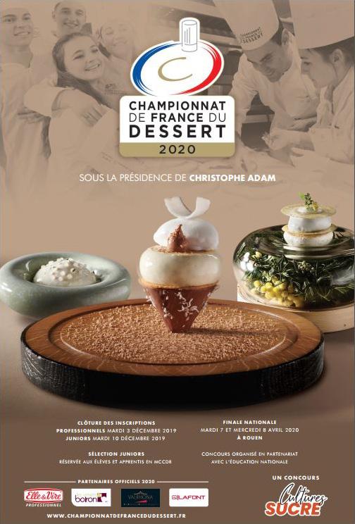 Visuel Championnat de France du Dessert 2020
