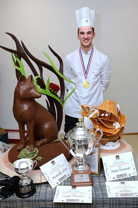 Dani PIERARD, vainqueur de la Coupe de France des Jeunes Chocolatiers Confiseurs 2019
