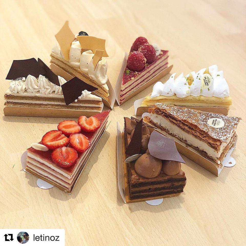 Gâteaux en parts