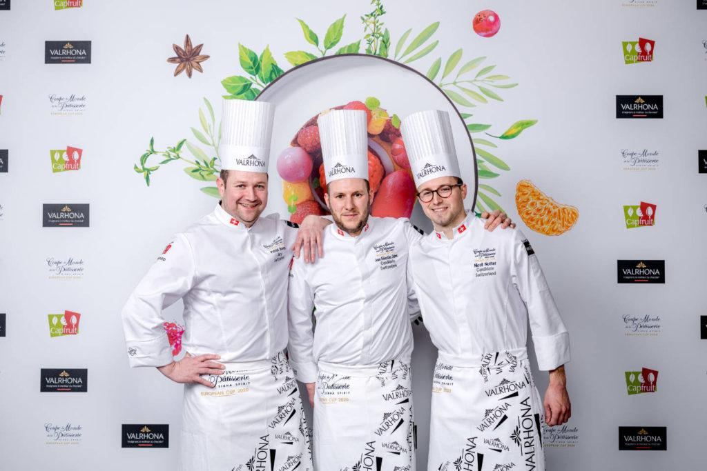Coupe d'Europe de la Pâtisserie - Patrick Bovon, Jean-Sébastien Guinet, Nicoll Notter