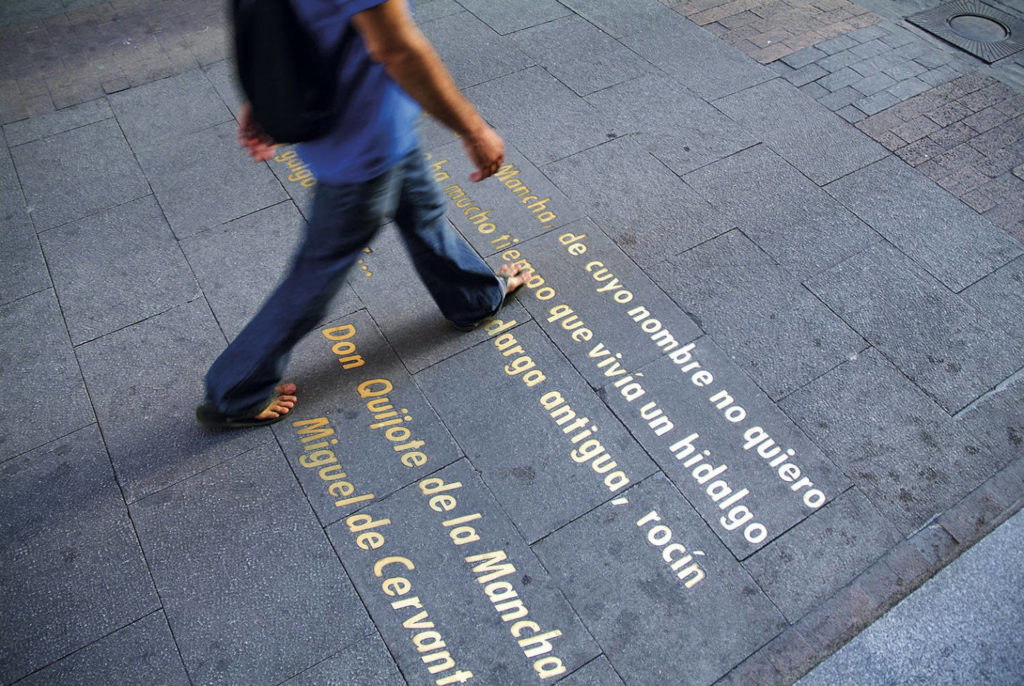 Madrid, Citations Littéraires Quartier de las Letras © National Geographic