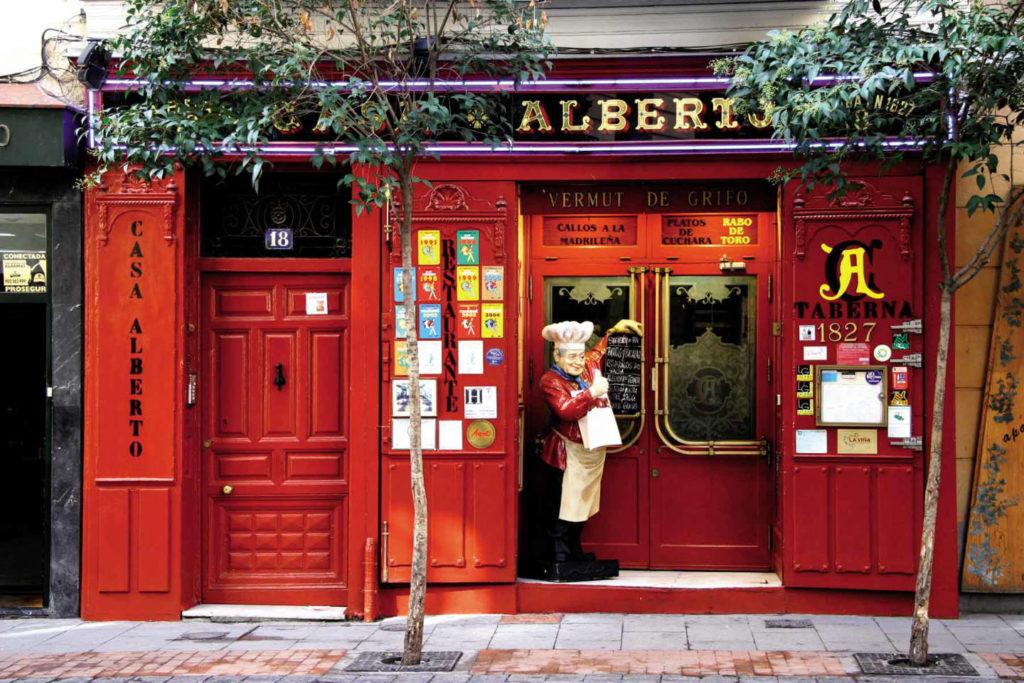Madrid, Vieux Quartier de Las Letras, Taverne La Casa Alberto