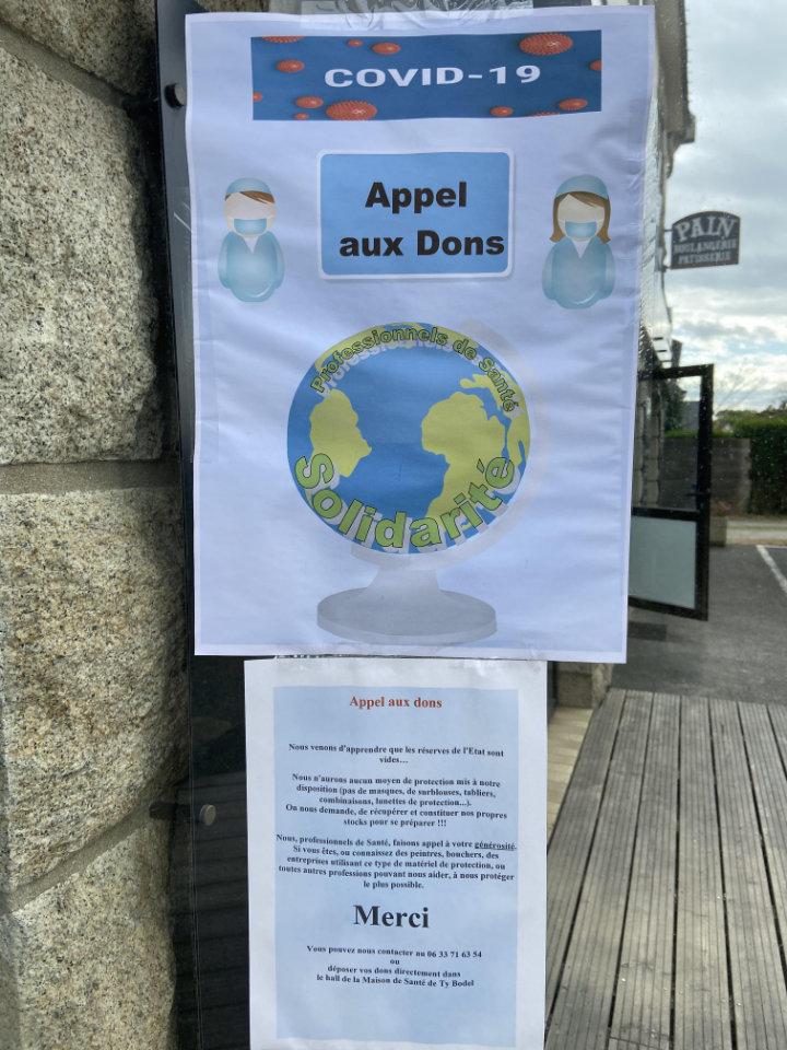 Thierry Sagard à Mellac - Affichette Appel aux Dons