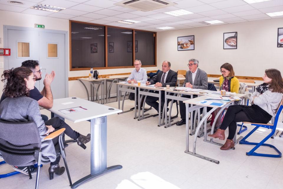 Épreuve soutenance projet - Couple Dubois et Jury, avec M. Anract