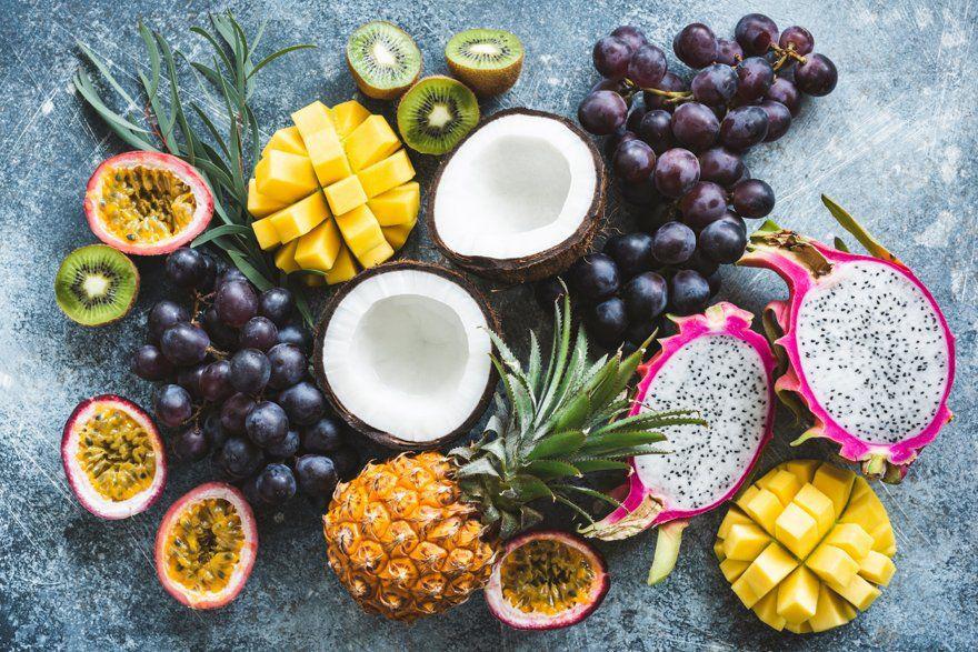 Dessert fruits exotiques