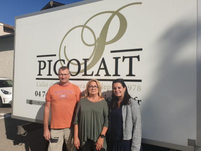 Equipe Picolait : Roland Thaize, Anne Arbiol et sa fille Noémie