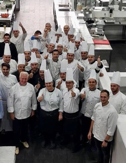 Brigade de Faqra Catering en Octobre 2020, visite de Jean-Francois Girardin
