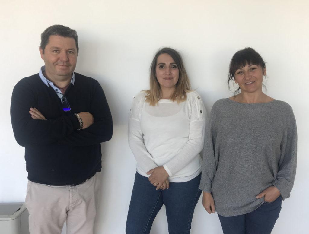 L'équipe dirigeante : Jean-Louis, Laura, Corinne