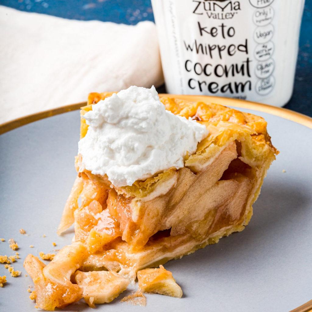 Tarte aux pommes et crème coco