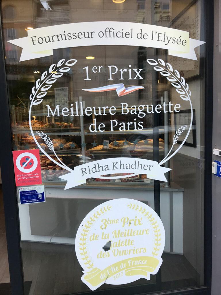 """1er Prix """"Meilleure Baguette de Paris"""""""