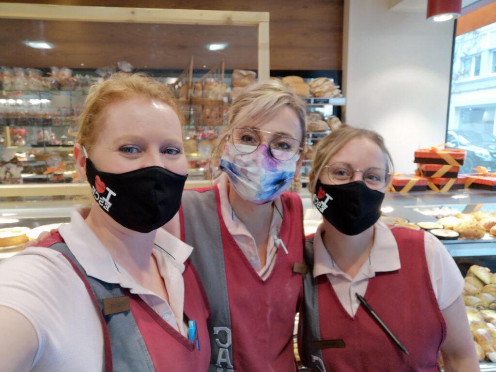 Delphine, Victoria et Aurélie, équipe de choc de la boutique à Esch
