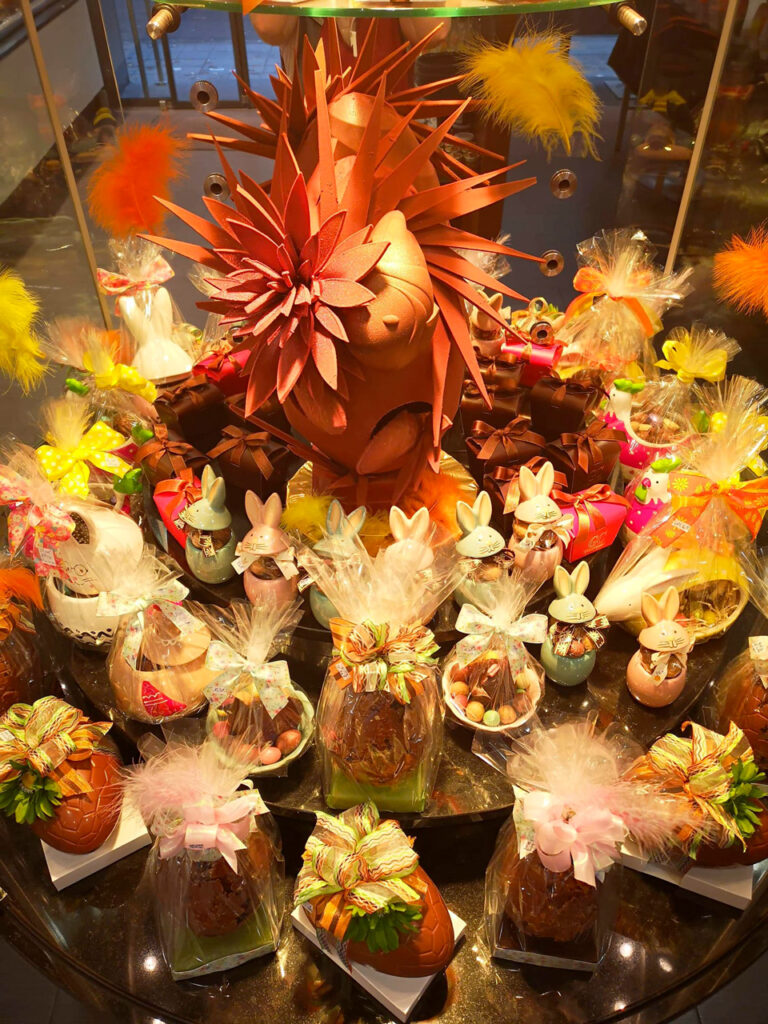 La vitrine chocolats de Pâques